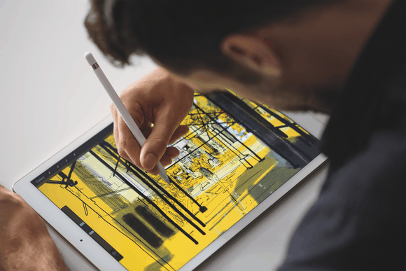 iPad Pro und Apple Pencil. Bildquelle: Apple.