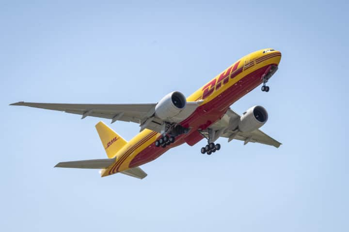 Deutsche Post DHL 777 Freighter Delivery Cruise, Ribbon Cuttiing & Flyaway